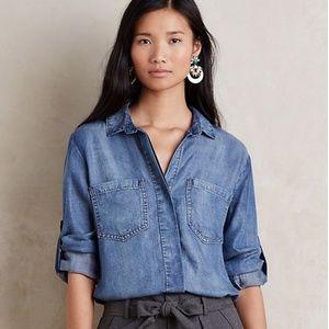 Anthropologie Cloth & Stone Split Back Shirt